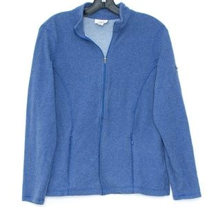 LL Bean Blue Full Zip Jacket Womens Medium A2